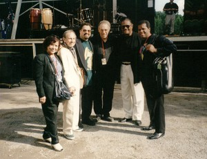 11. Lupe (Mom), Chico, Myself, Todd Barkan, McCoy Tyner, Mauricio Smith backstage in Pori, Finland