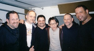15. Jed Levy, Andy Gonzalez, Myself, the engineer, Jim Seely, Pheonix Rivera, recording the Quintet album