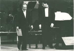 3. With my papa on stage at Carnegie Hall